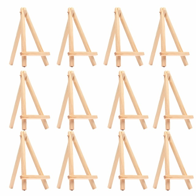 10PCS Kids Mini Wooden Easel Art Painting Name Card Stand Display Holder Drawing For School Student Artist Supplies, (10-Pack)