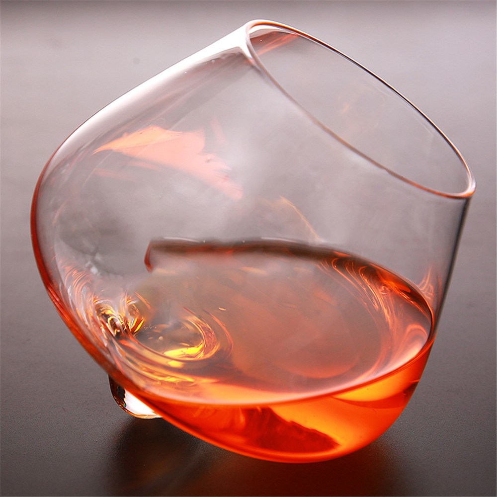 Creative Crystal Whisky Glass Rotary Bottom Wine Whisky Vodka Drinking Home Bar Party Wedding Wine Glass Gift for Wine Lovers