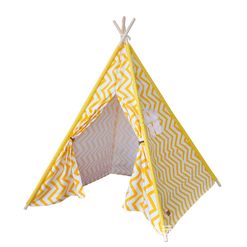 Children tipi indian tent kid's playhouse canvas cotton teepees stripe play house for baby room princess castle children tipi canvas cotton indian tent kids play house teepee baby game room playhouse boys and girls teepees toy tent page 6