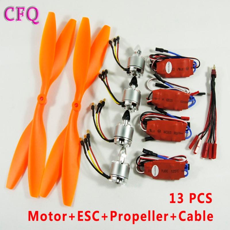 (CFQ) motor drone f450 2212 920kv Self-Tightening Brushless Motor+GF1045 Propeller+20A Brushless ESC+Cable quadcopter S500