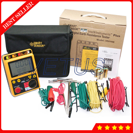 AR4105A Digital Ground Resistance Tester dy4100 digital earth ground resistance tester meter