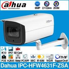 Dahua IPC HFW4631F ZSA 6MP Bullet Ip Camera 5X Zoom 2.7 ~ 13.5Mm Gemotoriseerde Vf Lens 60M Ir Max Sd card Slot Ingebouwde Microfoon IP67 IK10