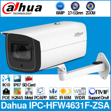 Dahua IPC HFW4631F ZSA 6MP Viên Đạn IP 5X Zoom 2.7 ~ 13.5Mm Cơ Giới VF Ống Kính 60M MAX SD khe Cắm Thẻ Tích MIC IP67 IK10
