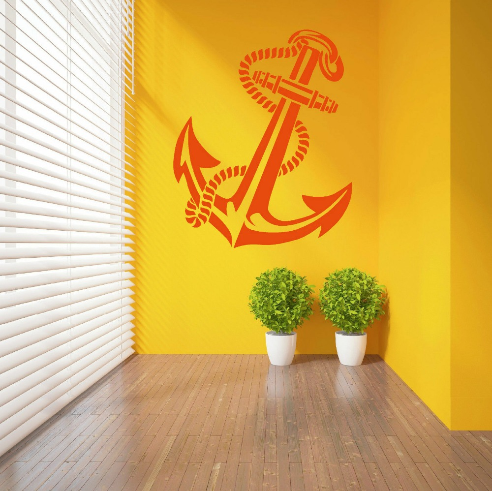 High Quality ANCHOR RETRO VINTAGE TATTOO SHIPS Vinyl Wall Art ...