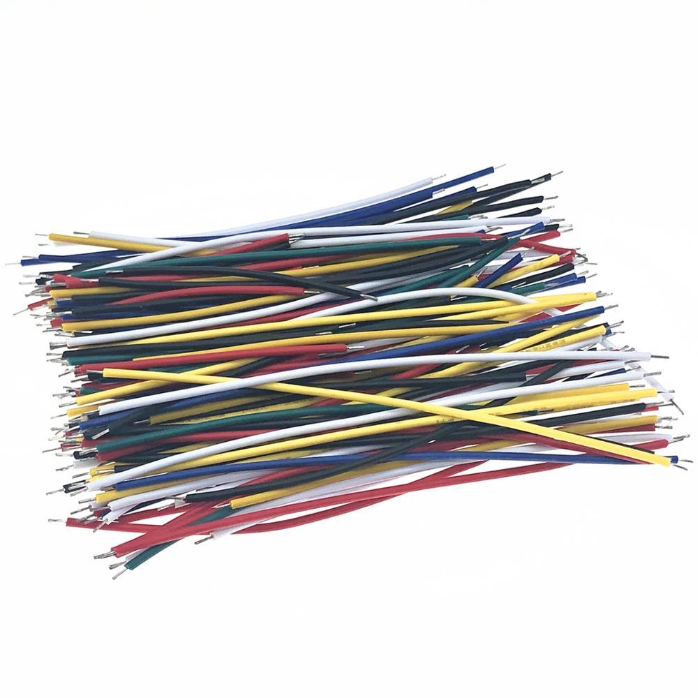 130 шт. 24AWG макетная плата, джампер, кабель, фотолуженая Упаковка из двух компонентов, красочная 13 типов 10 шт. каждого 5 см, 8 см, 10 см