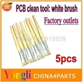 5pcs white Brush of PCB or BGA Reballing PCB Dust Clean Anti-static Brush Free shipping