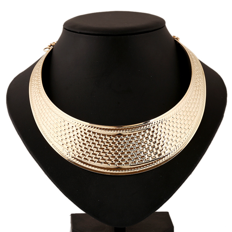 Hot Sale Chunky Necklace Gold-Color Punk Style Maxi Choker Necklace Jewelry Statement Necklaces For Women Collares 2015