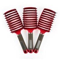 Saç Derisine Masaj Tarak Saç Fırçası Kıl ve Naylon Kıvırcık için Detangle Saç Fırçası Salon Kuaförlük Şekillendirici Araçları ücretsiz kargo