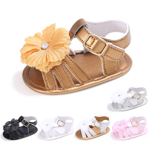 dfd118e00e1 newborn 0-1 year old baby GIRL cute flower princess step shoes summer  sandals soft