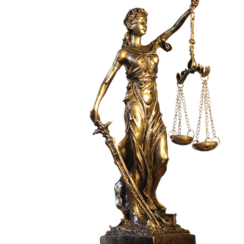 Greek Justice Goddess Statue/Fair Angels Resin Sculpture,People Ornaments,Vintage Home Decoration Accessories,Office Crafts R289