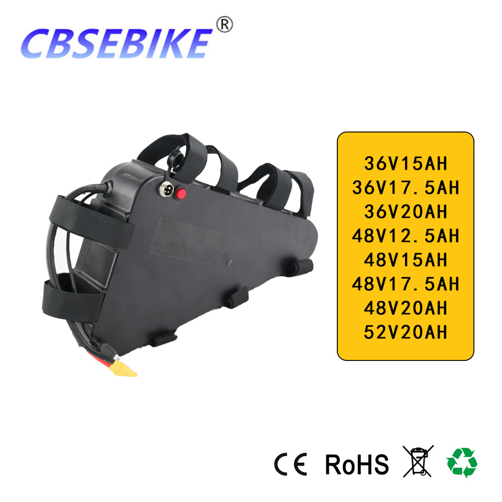 CBSEBIKE Ebike <font><b>Battery</b></font> <font><b>48V</b></font> 20Ah 52V 20Ah Triangle Electric Bicycle <font><b>Battery</b></font> for <font><b>1000W</b></font> 750W Motor Bafang BBS03 BBSHD BBS02 image