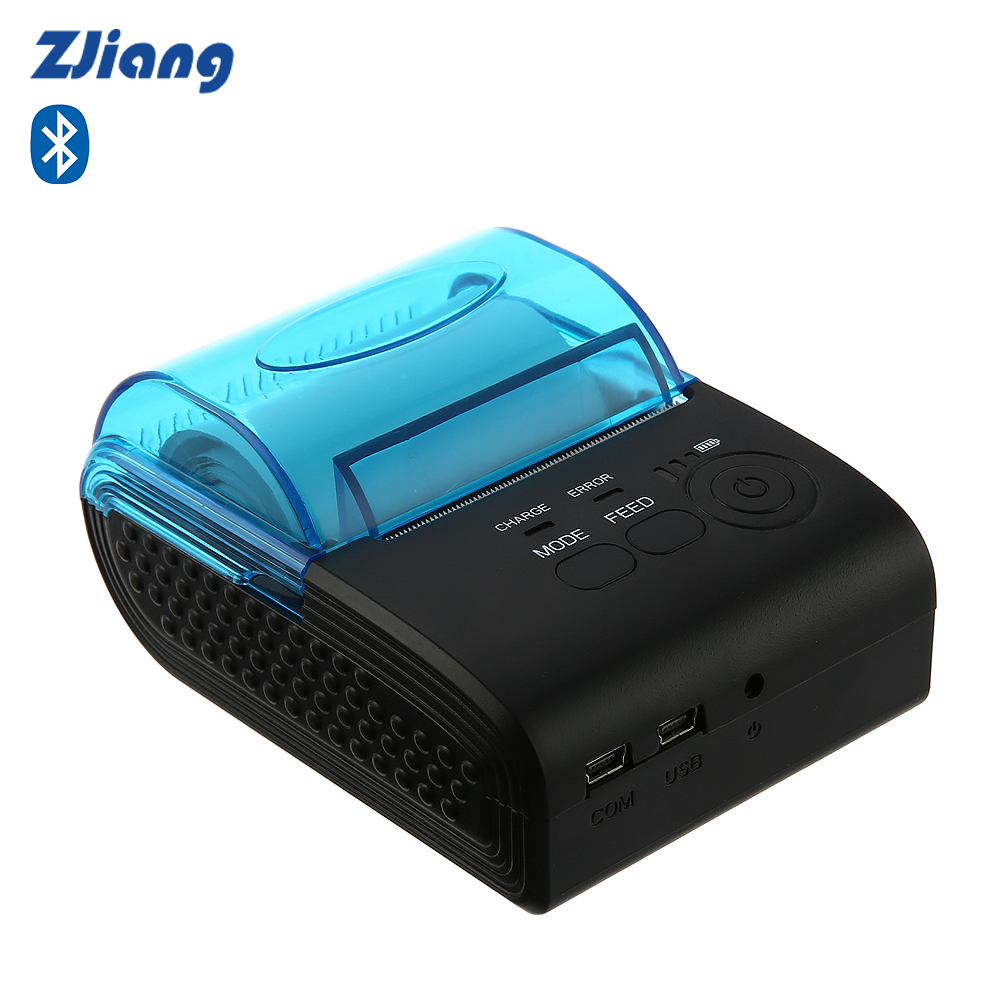 Zjiang ZJ - 5805 58mm Wireless Thermal Printer Bluetooth 4.0 ESC POS 90mm/s Receipt Printing Machine For Supermarket PK MTP-II