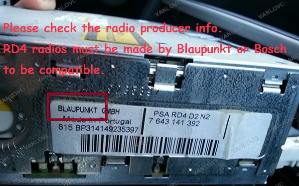 blaupunkt rd4 wiring diagram iphone 4 charger wire yatour digital music changer aux in sd usb mp3 adapter for peugoet bosch compatible vanlovo