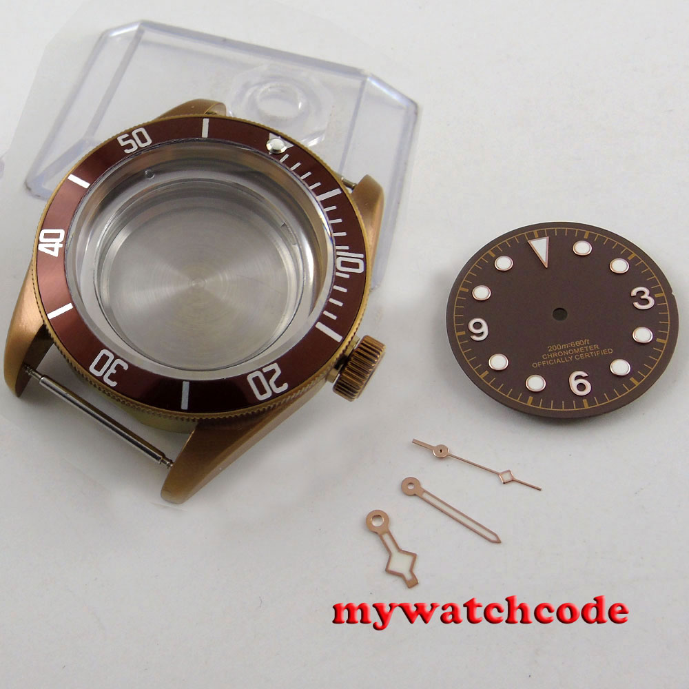 41mm sterile coffee PVD Solid Steel Case Set for ETA 2824 2836 movement C10341mm sterile coffee PVD Solid Steel Case Set for ETA 2824 2836 movement C103