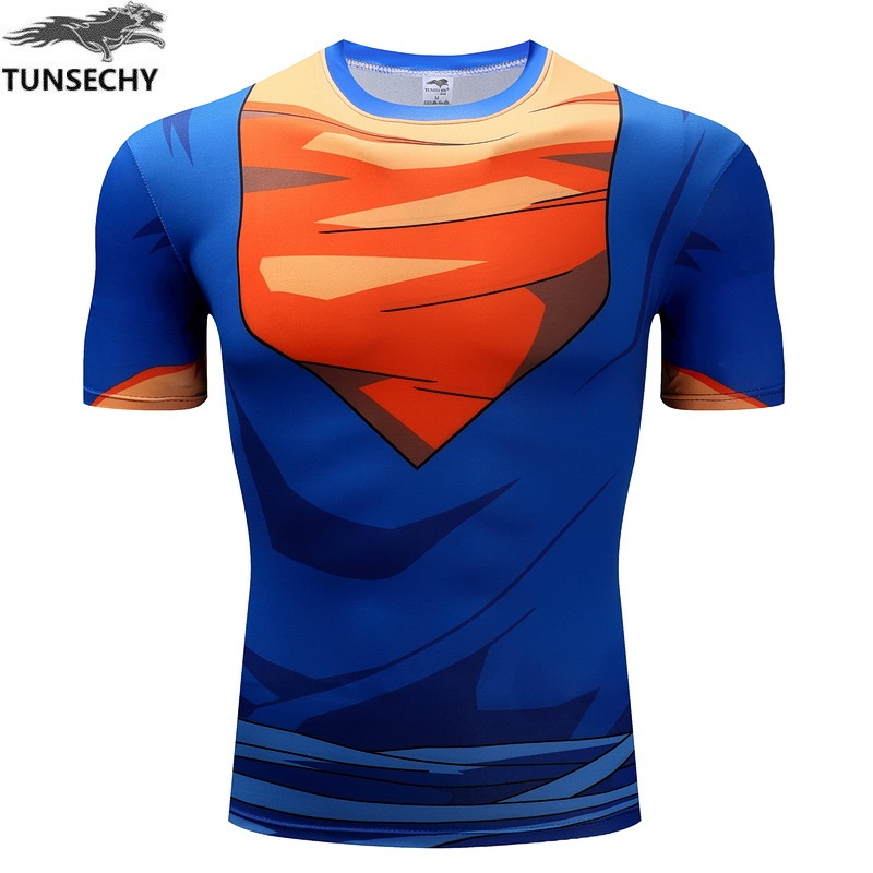 TUNSECHY Dragonball tortoise fairy flow Vegeta digital printing cloth the sand lu Foley sand round collar short sleeve T-shirt