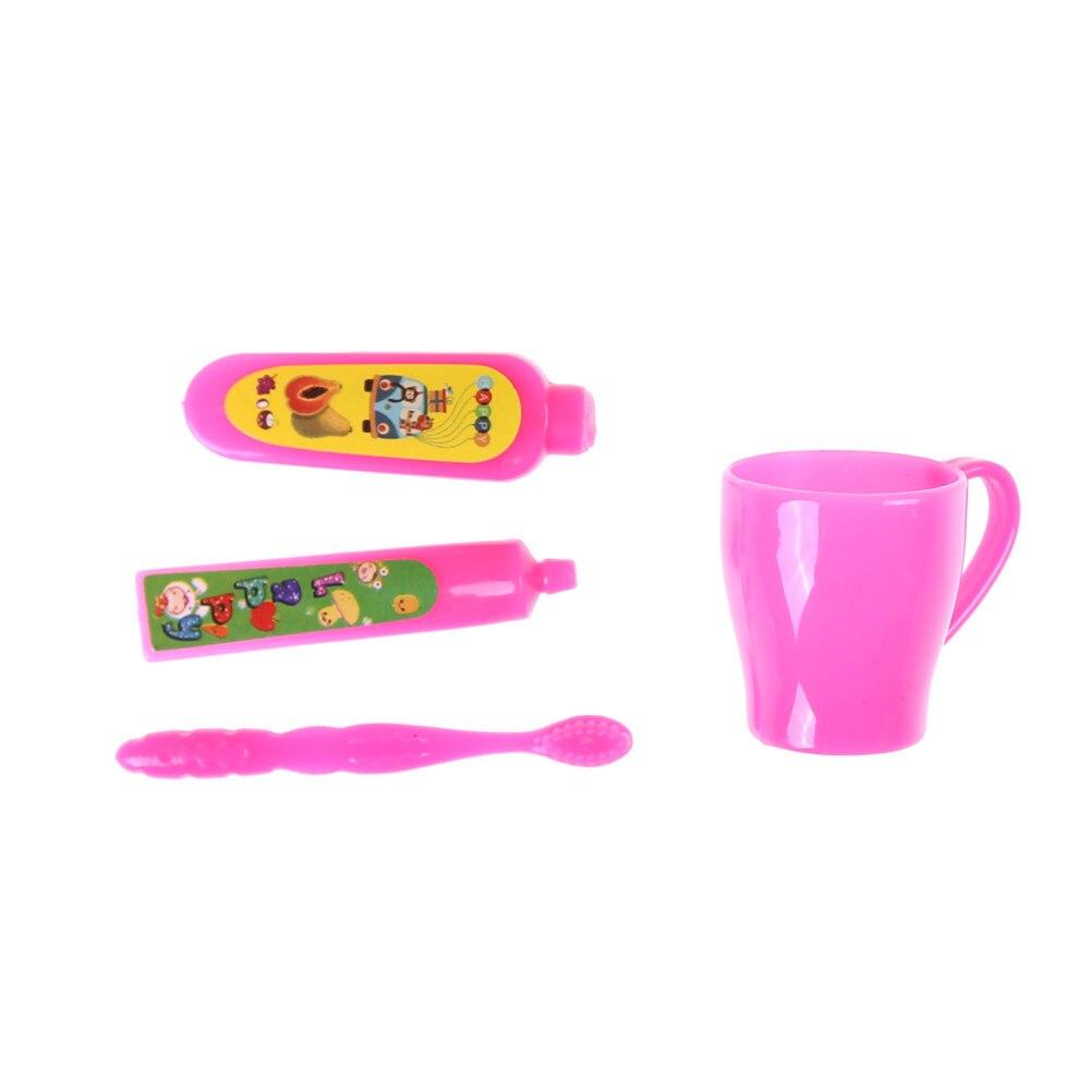 3pcs 1:12 DollHouse Miniature Bathroom Toothpaste Toothbrush Doll Accessory SL