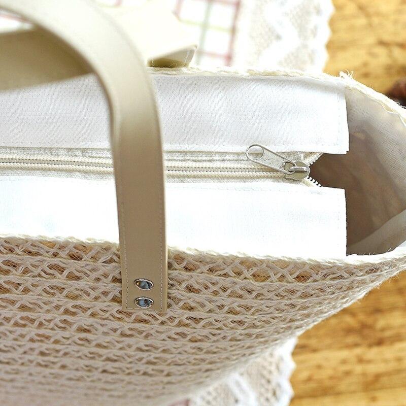 4f722f60e2b89 JOLIE FEMME Women Summer Handbags Ladies Tote Shopping Beach Bags Fashion  Silk Scarf WeaveTravel Shoulder Bags For Women Femme -in Shoulder Bags from  ...