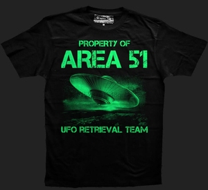 Ufo T-Shirt Glow In The Dark Area 51 T-ShirtSpaceship Glow In The Dark 2019 Newest Men Funny Summer Clothing T Shirts(China)
