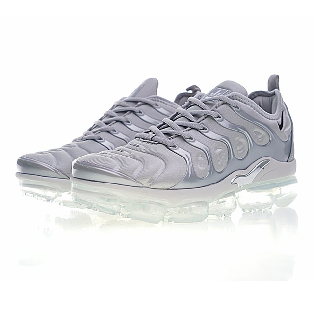 NIKE AIR VAPORMAX PLUS Men's Running Shoes, Light Grey, Wear-resistant Non-slip Breathable, Outdoor Sneakers Shoes 924453 005