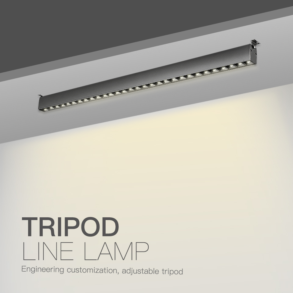 SCON AC110 240V 10head 15head 32 40cm Iron grey surface mounted LED linear line lamp creative