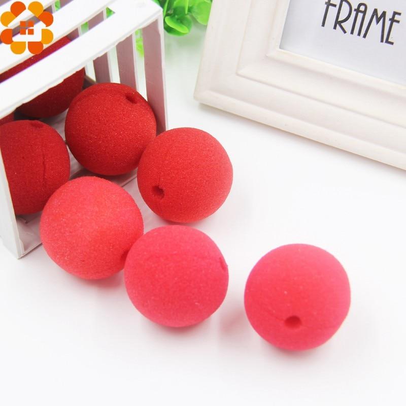 best price10pcslot sponge ball red magic clown nose for halloween party masqueradeweddingkids birthday decoration