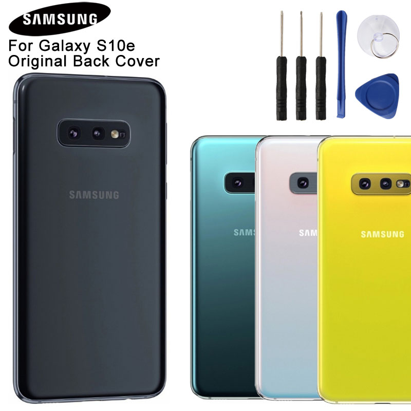 Samsung Backshell Back Cover for SAMSUNG GALAXY S10e SM-G9700 G9700 Phone Battery Cover Glass Housing Case + Tools