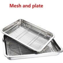 Проволочная решетка для приготовления кебаба на пару, сетка для барбекю, сетка для гриля, инструмент для барбекю, сетка из углеродистой нержавеющей стали, глубокая квадратная пластина, лотки для хранения кафетерия