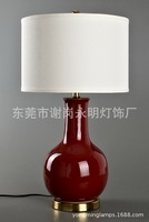 TUDA 38X68cm Free Shipping Modern Creative Design Table Lamp Red Ceramic Table Lamp Home Decoration LED