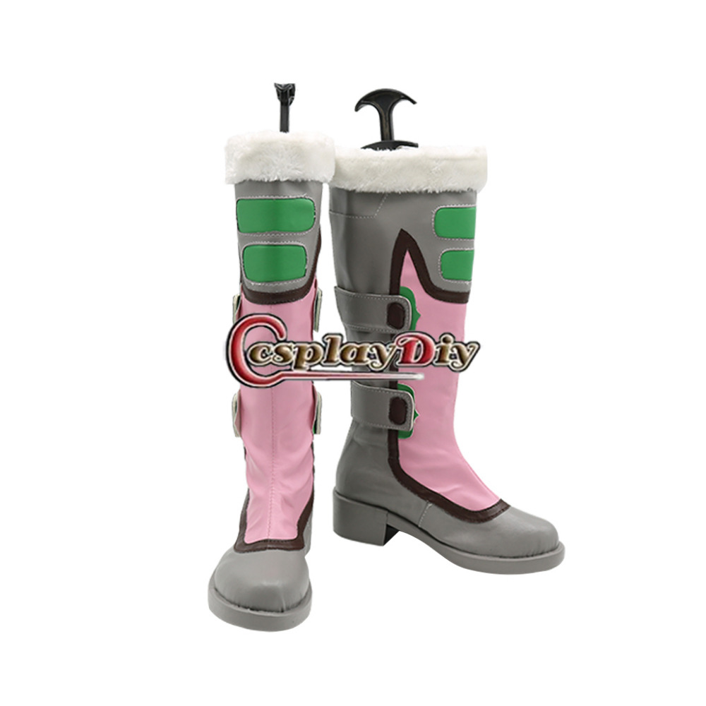 ФОТО Game Role Mei Shoes Boots Adult Women's Flats Knee High Boot Halloween Carnival Shoes Custom Made