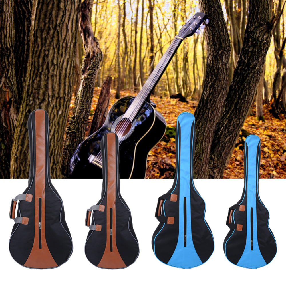 34,36 inch Guitar Bag Travel Guitar bag Blue / Brown Bone Edge Simple Section Use Material PU Leather + Canvas (no packaging) 12mm waterproof soprano concert ukulele bag case backpack 23 24 26 inch ukelele beige mini guitar accessories gig pu leather