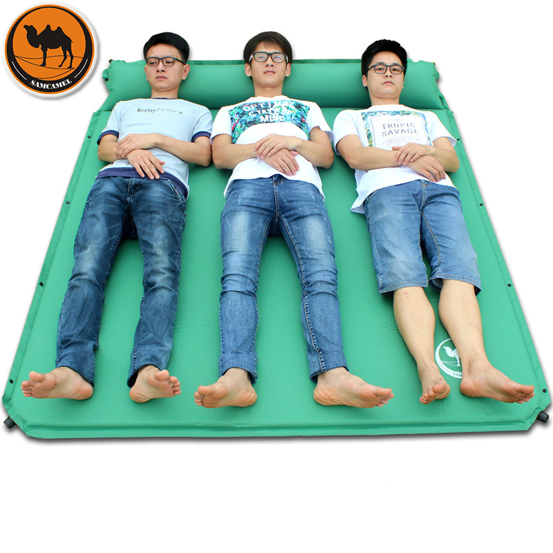 Desert Camel 188 160 3 5CM Ultralarge 3 Peson Use Inflatable Camping Mat Inflatable Mattress Air