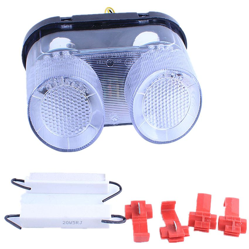 For Yamaha YZF R1 2000 2001 FZ1 2001 2002 2003 2004 2005 2006 Motorcycle LED Turn Signals Tail Light Integrated Clear