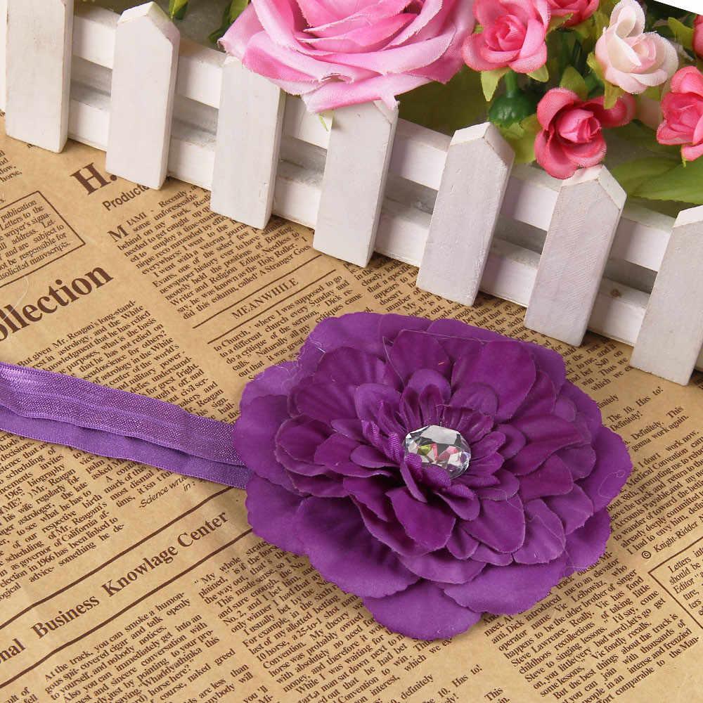 Для новорожденных повязка на голову для девочек и мальчиков; детская лента для волос; ободок для волос; цветок аксессуары для волос для малышей Детская повязка для головы женские аксессуары для волос kız bebek Аксесуар
