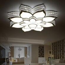 Modern led de cristal do teto luzes kristal acrílico breve sala lâmpada deckenleuchten lampara techo quarto luminárias