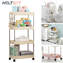 купить 2/3/4 Layer Gap Holder Kitchen Storage Rack Fridge Side Shelf Removable With Wheels Bathroom Organizer Space Saving Shelf по цене 923.31 рублей