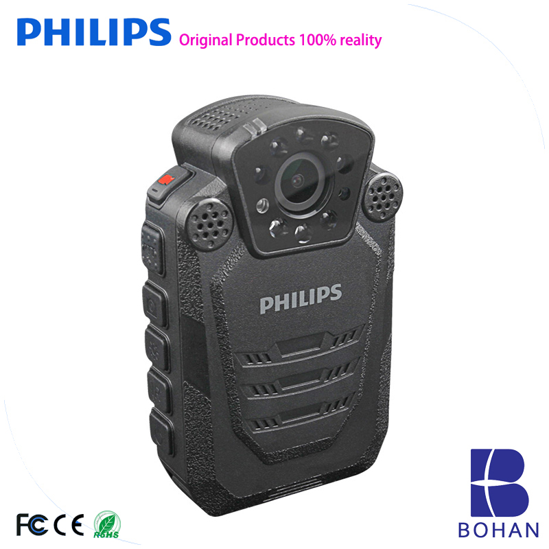 Philips Police Body Cam Infrared Law enforcement assistant HD Voice Recorder Security Worn Camera 1080P Night Vision protective security law