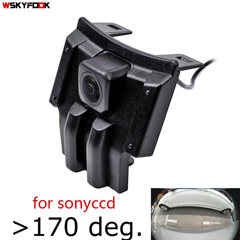 180deg fisheye CCD HD Car Front View Camera for Toyota LAND CRUISER PRADO 2018 2019 Prado 150 2020 front grille camera AHD CVBS