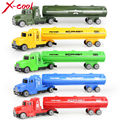 5 color oil tank truck Die cast Car alloy truck with Plastic Engineering car model Toy Classic Toy Mini gift for children