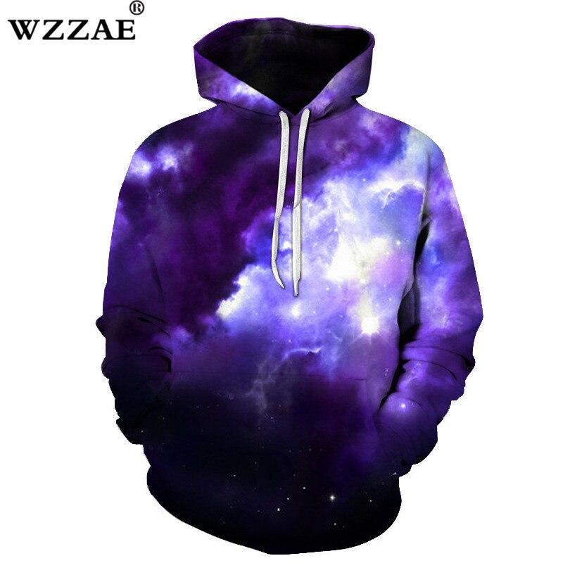WZZAE Space Galaxy Hoodies Hooded Men/Women Hat 3d ...