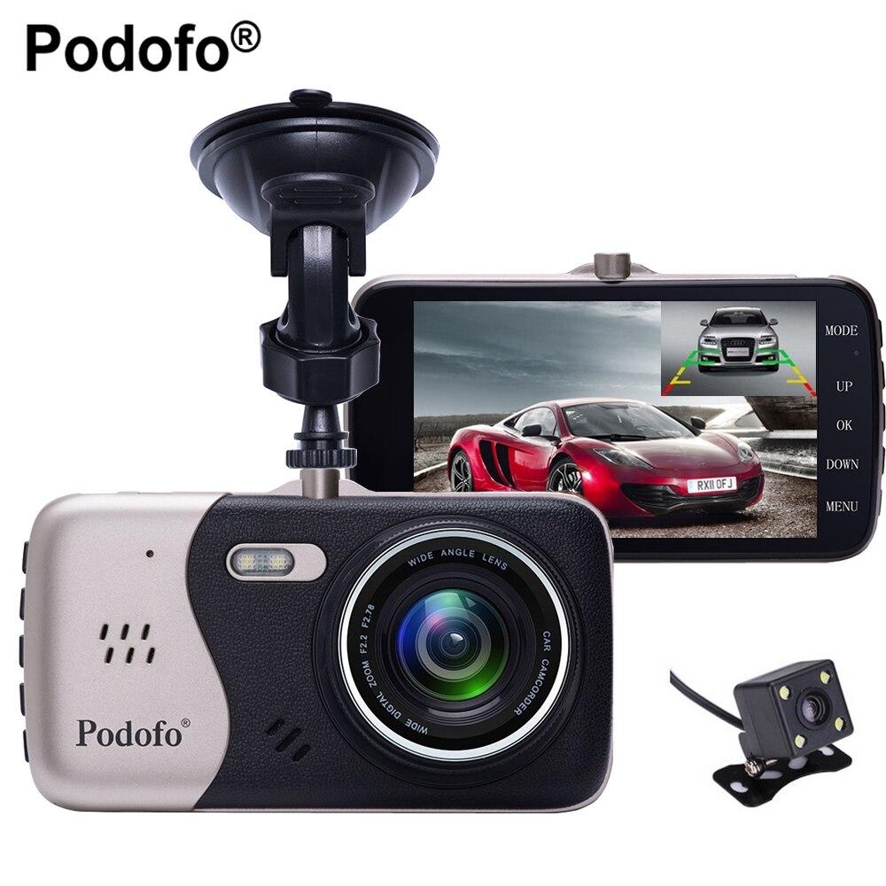 Podofo Dual Lens Novatek 96658 Car Camera 4 0 Full HD 1080P 170Degree Car DVR DVRs