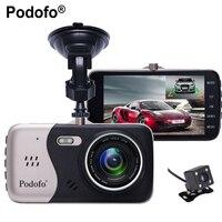 Podofo Dual Lens Novatek 96658 Car Camera 4.0 Full HD 1080P 170Degree Car DVR DVRs Recorder With Rear View Backup Camera DVRs