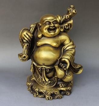 Collection fine workmanship brass Maitreya Buddha crafts statue