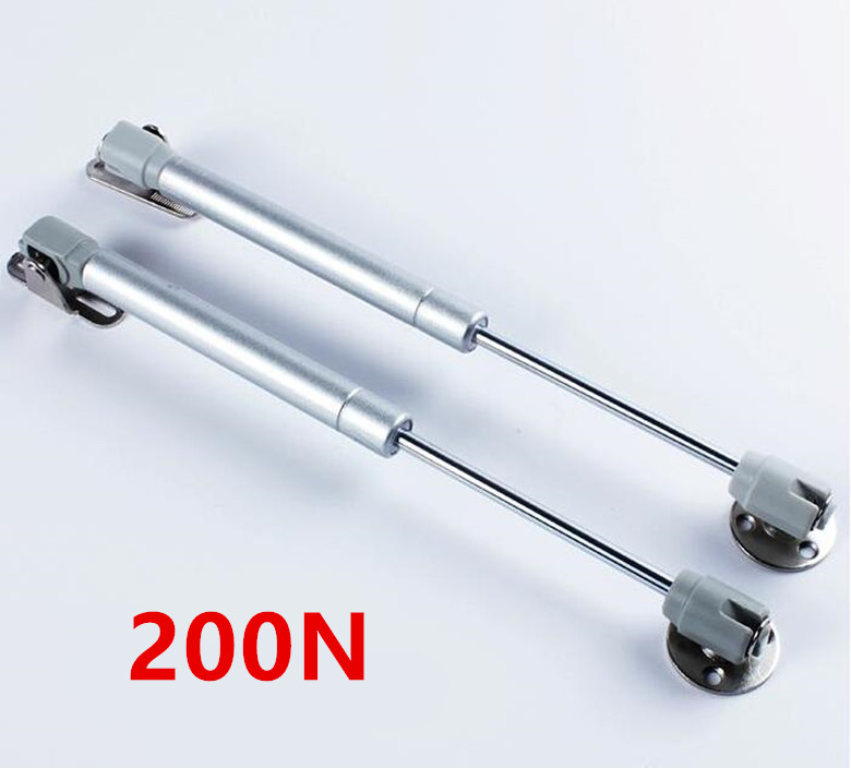 2018 New 200N Furniture Hinge Kitchen Cabinet Door Lift Pneumatic Support Hydraulic Gas Spring Stay Hold Pneumatic Hardware