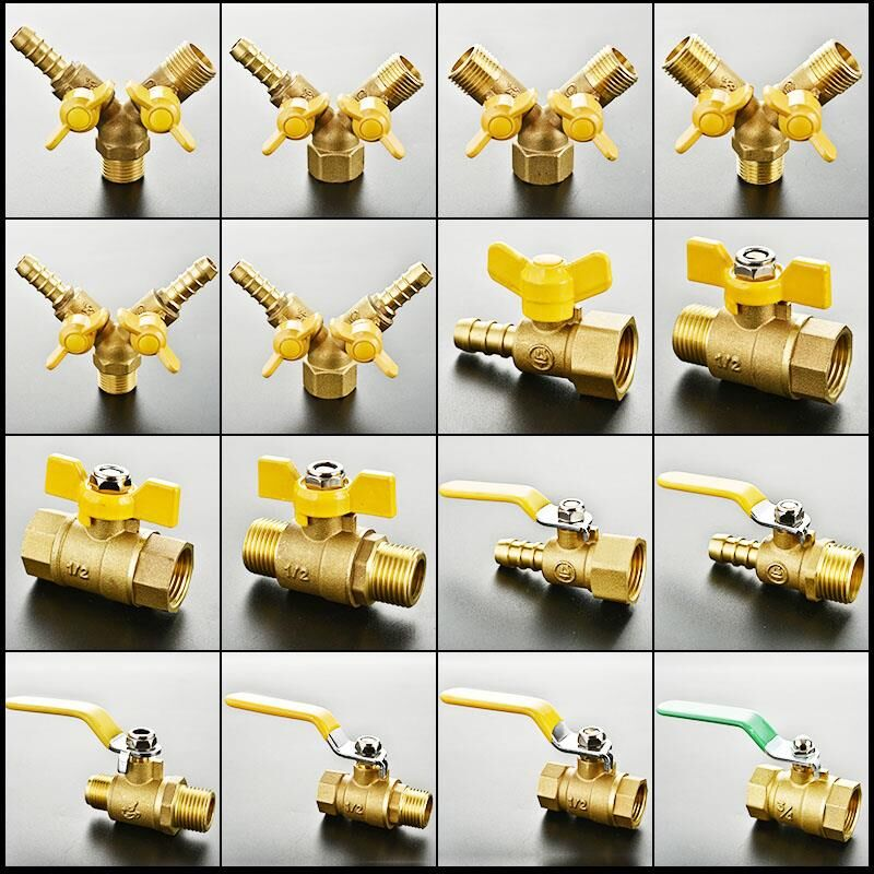 Gas-Separation Switch Valve Ball-Valve Brass External-Thread Male Double High-Quality
