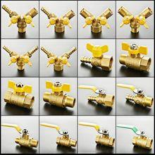 """Высокое качество 1/"""", 3/8"""", 1/"""" Двойной наружный шаровой клапан с наружной резьбой, сепарационный латунный шаровой клапан, переключатель клапана, газовые фитинги"""