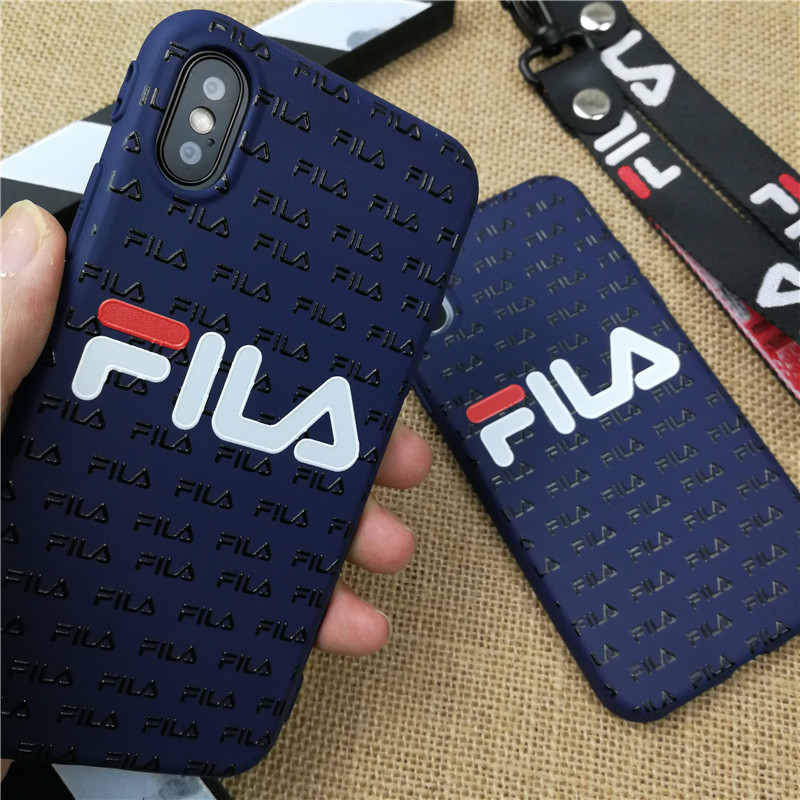 buy online bc273 f42d8 3D FILA Phone Case for iPhone 6 6s Plus 7 8 Plus X XR XS Max