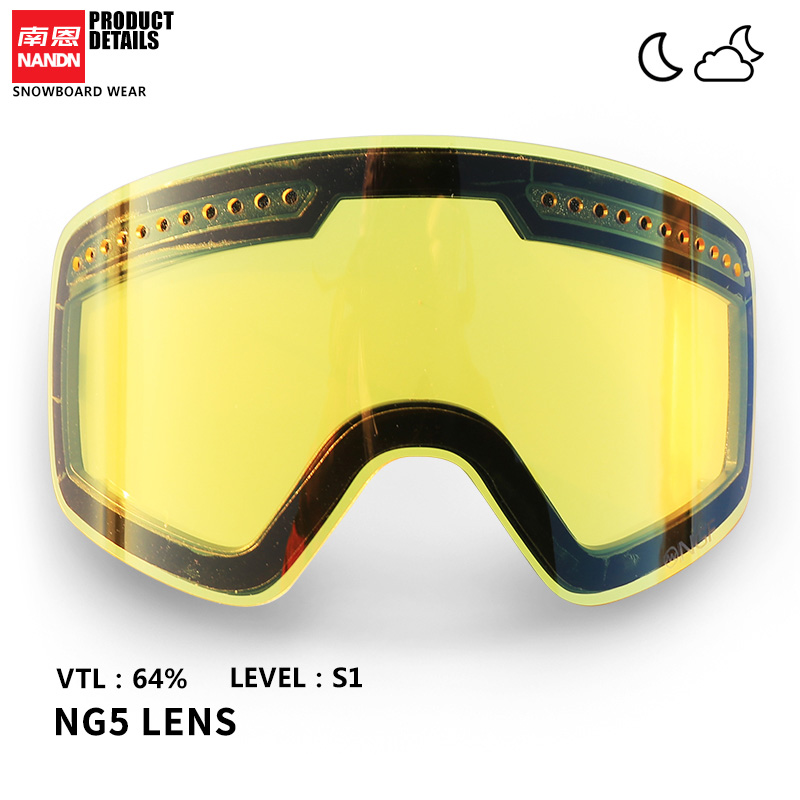 NANDN SNOW Ski Lens Double Layer Anti Fog And Anti UV400 Suitable For NG5