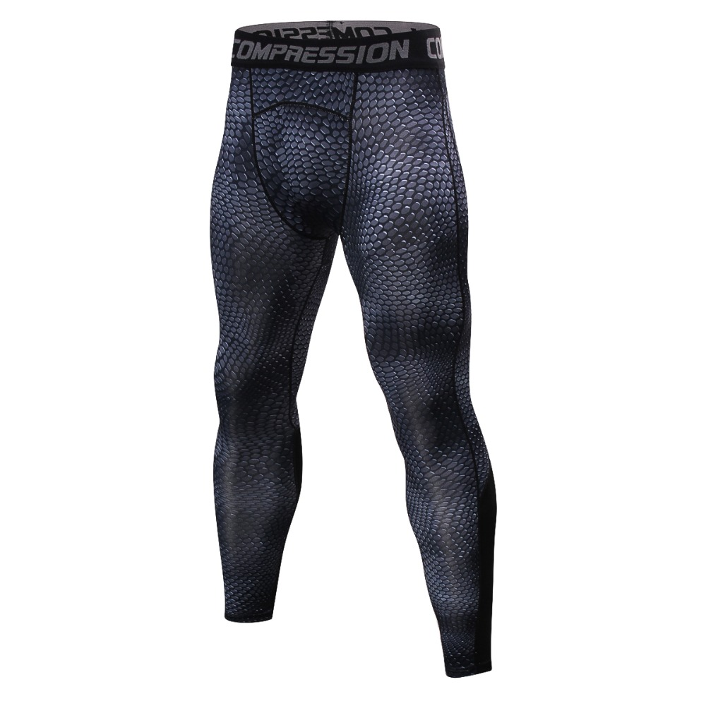 Men's Serpentine Compression Pants  Tights Fitness Trousers Bodybuilding Skinny Leggings Sportswear Man Pant