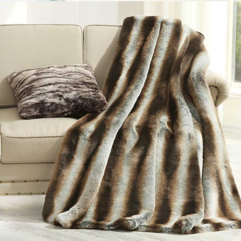 American style fur bedside blanket,150*200cm coffee striped comforter, sofa cover, pet blankets ,artificial fur blanket double sides reversible mysterious style blanket 130 160cm durable wearable comforter sofa cover cloth pet blankets floor mat