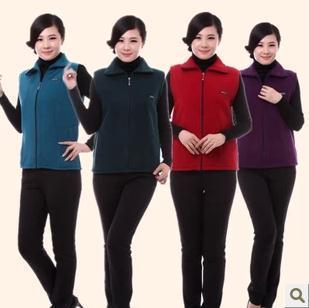 Hot Large size L-4XL Autumn Winter women warm vest cardigan jacket zipper Factory sales